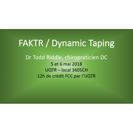 FAKTR , muscular treatment with instruments